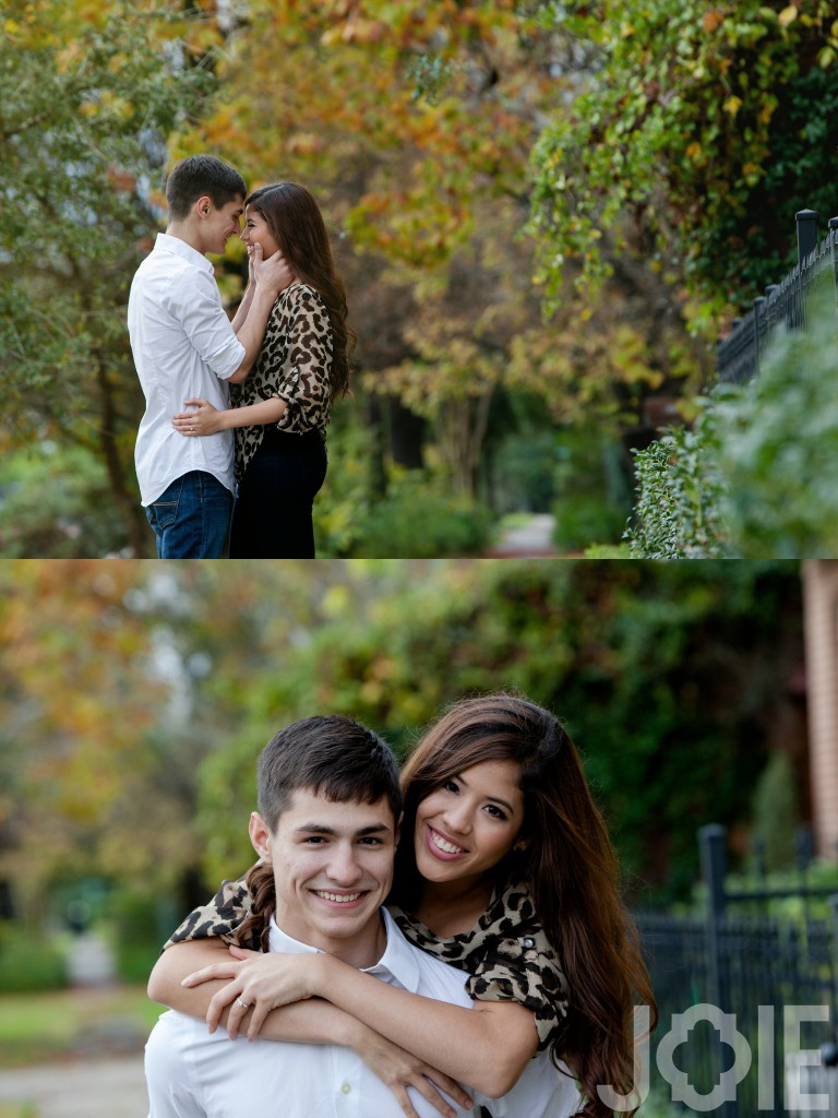 Houston Heights engagement session