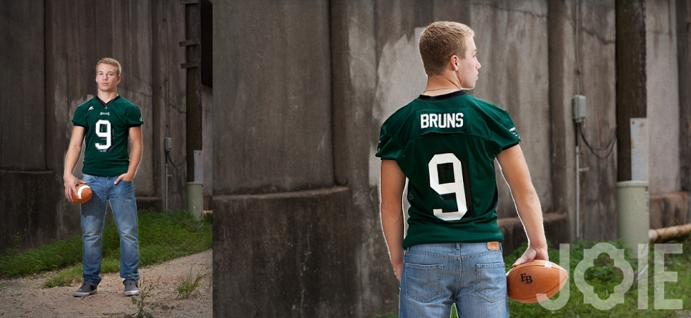 Jake Burns quarterback high school senior urban pictures