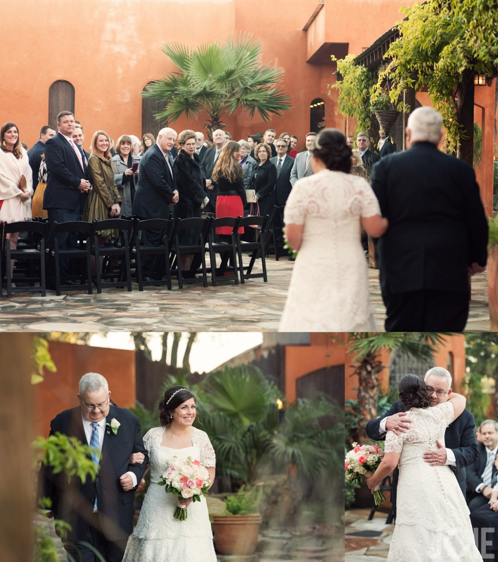 Outdoor ceremony at Agave Real by Joie Photographie in Houston