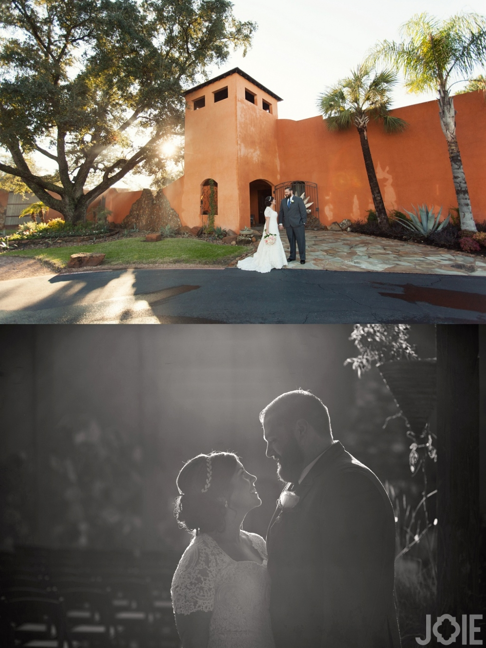 Outdoor wedding portraits at Agave Real by Joie Photographie