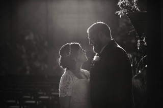 A portrait of Annie and Chris at their wedding in Katy, Texas at Agave Real