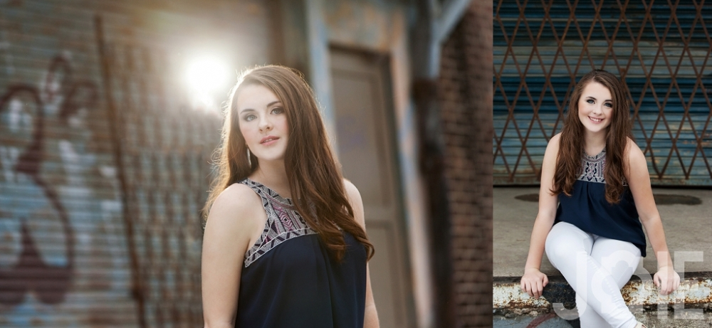 Modern senior pictures in houston texas of a Memorial Markettes