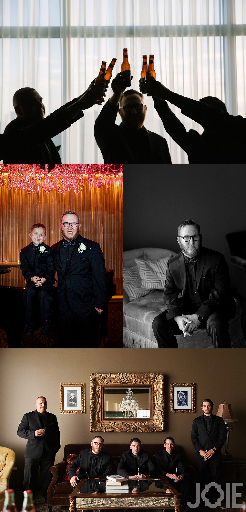 groom portraits for hotel zaza wedding for Megan and Mike