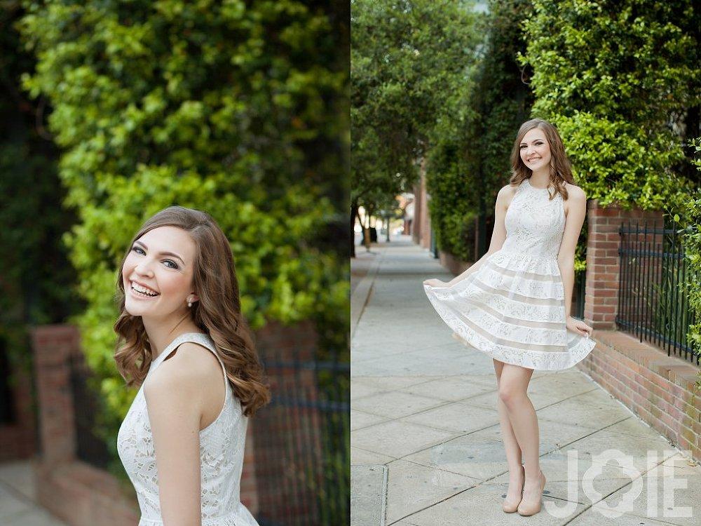 High school senior dancer portraits downtown