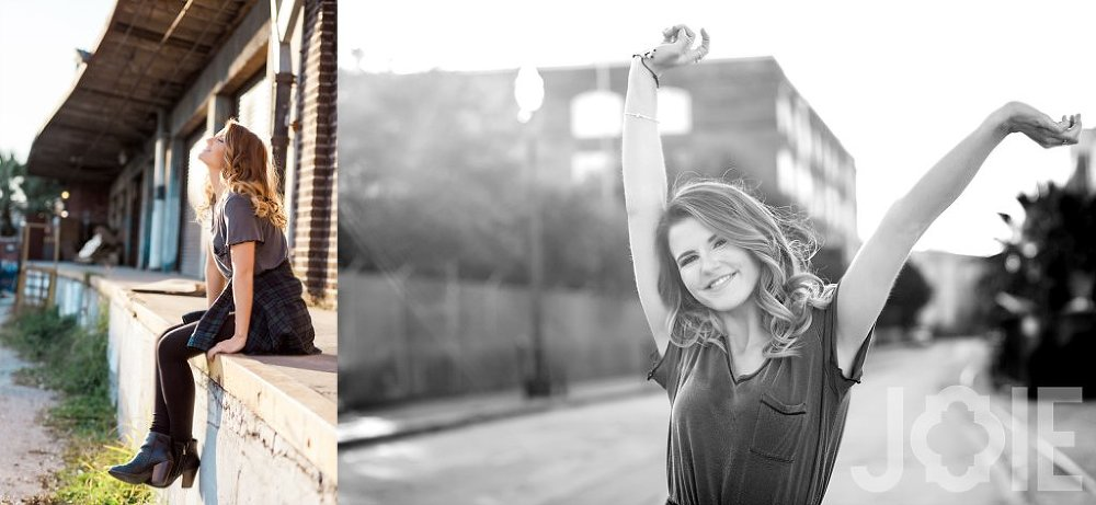 Houston downtown HCHS senior portraits
