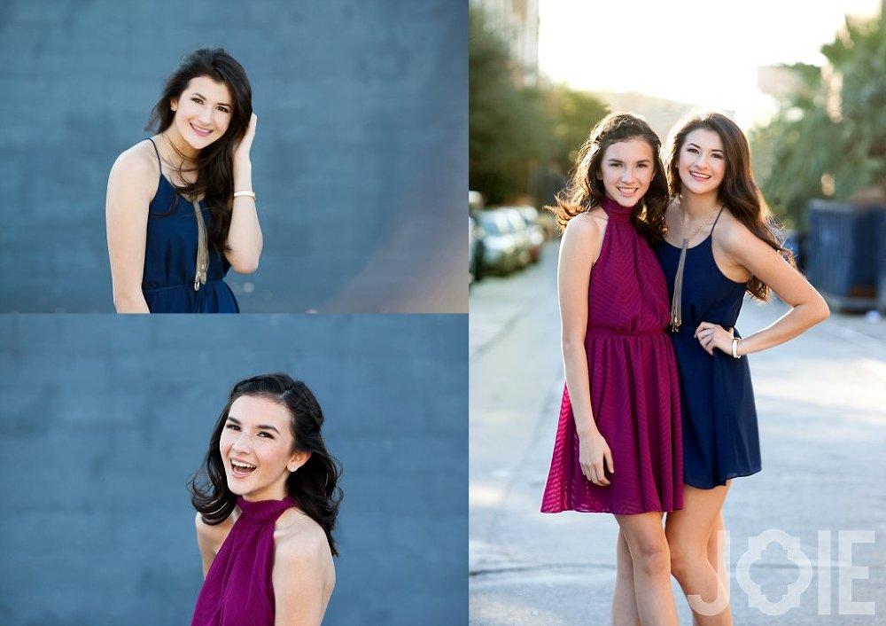 Sister high school senior photo session